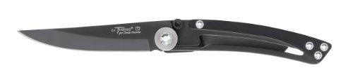 Claude Dozorme Liner Thiers 1.90.179.53N Messer, Griff mit Swarovski-Kristallen, schwarz glänzend, Schwarze Klinge