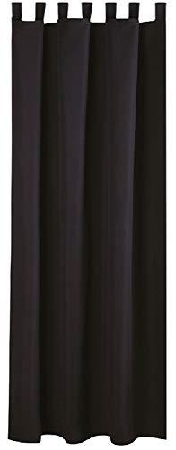 Bestlivings Blickdichte Schwarze Gardine mit Schlaufen in 140x245 cm (BxL), in vielen Größen und Farben