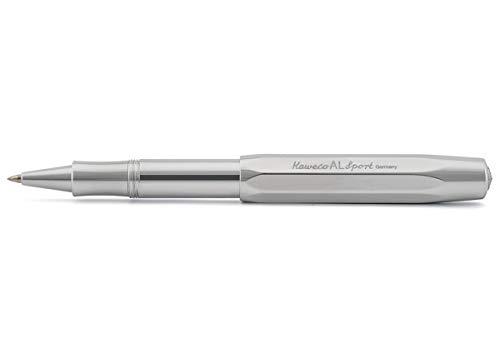 Kaweco AL Sport Raw Gel- / Kugelschreiber inklusive 0,7 mm Rollerball Tintenroller Mine für Linkshänder & Rechtshänder im klassischen Design mit Keramikkugel I Gelroller 13,5 cm