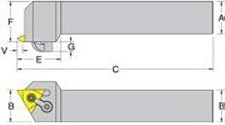 MTVO-A R/L Threading Toolholders MTVOR-10-3B-A, Center Height: .625