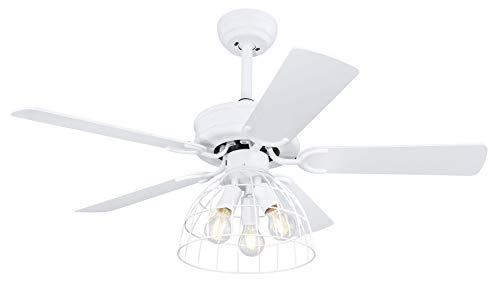 Globo 0346 - Lámpara de techo con ventilador y mando a distancia (3 niveles)