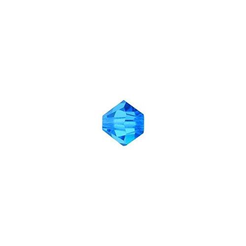 スワロフスキー ビーズ (ソロバン型) #5328 ●3mm、4mm、5mm、6mm● 【カラーその2】 (6mm(8粒入), カプリブルー)