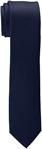 ESPRIT Collection Herren 998EO2Q801 Krawatte, Blau (Navy 400), One Size (Herstellergröße: 1SIZE)