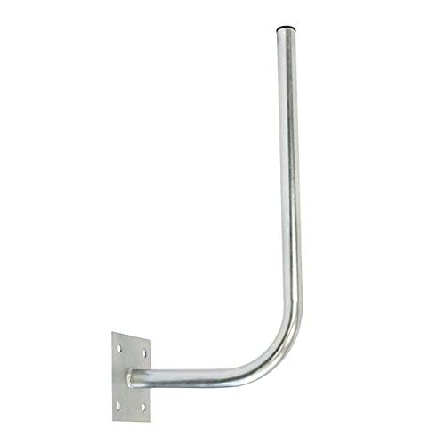 PremiumX 30cm Wandhalter 70cm Mast Stahl verzinkt SAT Antenne Wandhalterung Wand Montage Halter Wandabstand 30 cm Ø 38mm