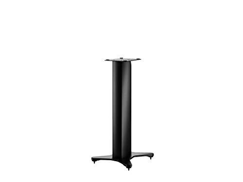 Dynaudio Stand 10 Lautsprecherständer mit integrierter Kabelführung und höhenverstellbaren Spikes, Schwarz (Paar)
