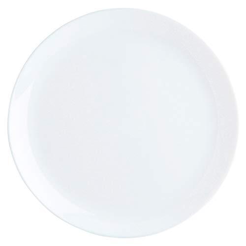 Luminarc Diwali Lot de 6 assiettes plates en verre opale extra résistant 27 cm, blanc
