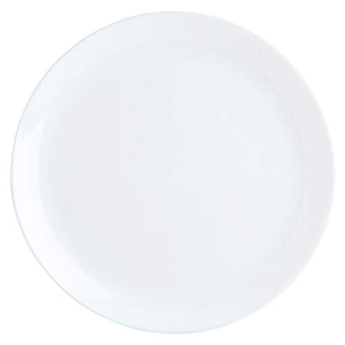 Luminarc Diwali Flache Teller aus Opalglas, extra robust, 27 cm, Weiß, 6 Stück