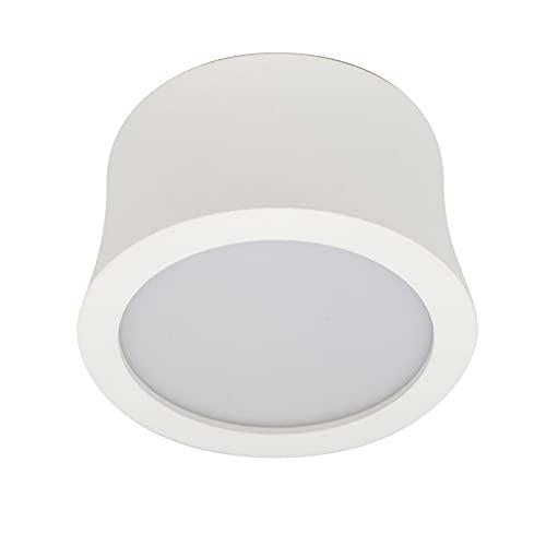 Mantra Iluminación. Modelo GOWER. Foco de techo circular de 8 cm de diámetro fabricado en aluminio acabado en color blanco arena