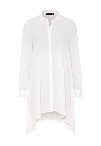 HALLHUBER Long-Bluse mit Zipfelsaum lang und weit geschnitten Offwhite, 44