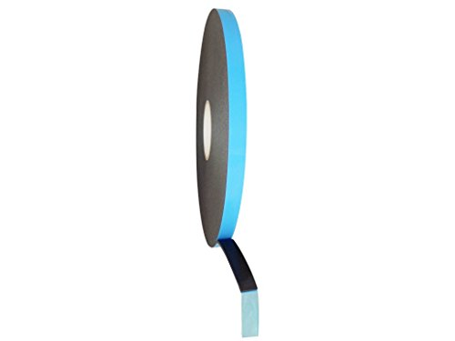 T.R.U. DC-PEF06P Black Double Coated Window Glazing Tape: 1/16 in. Thick x 1/4 in. Wide x 150 ft.