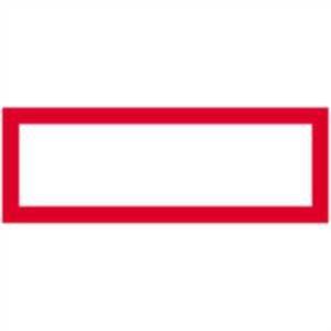 Brandbeveiligingsteken om zelf te beschrijven 21,0x59,4cm aluminium blanco