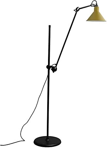 Lámpara de pie giratoria de elevación - LED nórdico Negro/Rojo/Amarillo Hierro Forjado Lámpara Vertical Ajustable Sala de Estar Sofá Estudio Dormitorio Lámpara de pie de Lectura Junto a la Cama