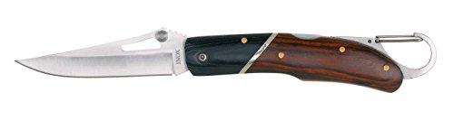 AUSONIA - Couteau DE Poche avec Lame en Acier INOX, Manche en MICARTA ET Bois DE Pakka DE 20,5 CM, Lame 8,4 CM