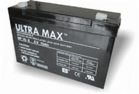 Ultramax ULTRA MAX 6V 10AH Rechargeable AGM/GEL Battery - RC Model Boat...