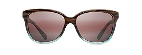 Maui Jim Women's Starfish Cat-Eye Sunglasses, Sandstone With Blue/Maui Rose Polarized, Medium