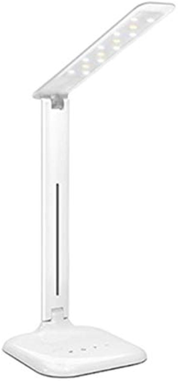 Knaxa LED Falten Lesen Schreibtischlampe,Bürolampe Leselampe Memory Funktion Tischlaampe Eye Friendly 5 Helligkeitsstufen Geeignet Für Nachttisch Studiert [Energieklasse A+]