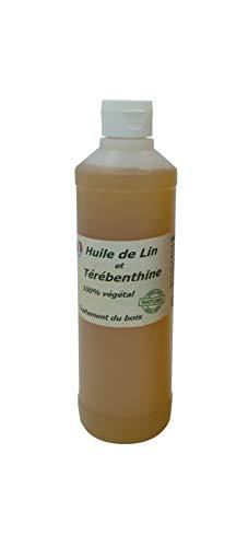 """Huile de Lin + térébenthine pour traiter le bois""""Française"""" 500ml"""