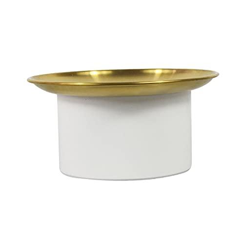 H HILABEE Caja de Almacenamiento nórdica con Tapa de aleación de Aluminio, aromaterapia, Pastel, Perfume, tocador de baño, decoración de Dormitorio, Regalo - Blanco Medio