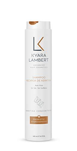 Kyara Lambert - Shampoo Recarga de Keratina, 400ml | Champú Post Tratamiento Keratina | Sin Sales ni Sulfatos, Antiencrespamiento