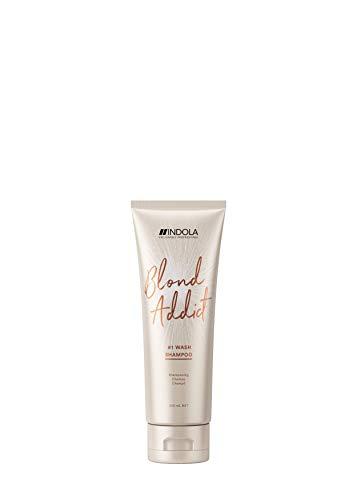 Indola Innova Blond Addict #1 Wash Shampoo Shampooing Cheveux blonds/balayages 250ml