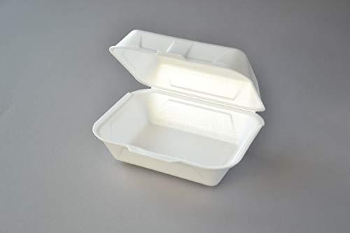 500 Stück Lunchboxen IP9 weiß Menüboxen Klappbox Thermobox Mitnahme-Box