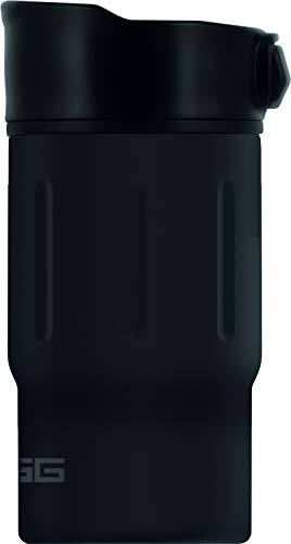 SIGG Gemstone Mug Obsidian Thermobecher (0.27 L), schadstofffreier und isolierter Kaffeebecher, auslaufsicherer Coffee to go Becher aus Edelstahl