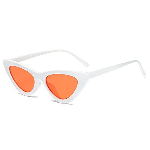 Gafas de Sol de Ojo de Gato Gafas de Sol de Dama Linda y Sexy Gafas de Sol Rojas y Negras Montura de Lente de Mercurio Color Transparente-Glasses