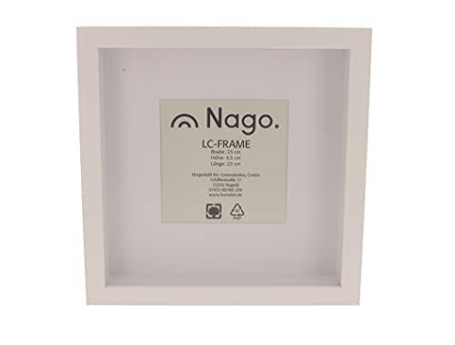 NAGO LC-Frame 3D Bilderrahmen 23 x 23 cm (weiß)
