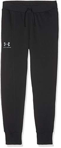 Under Armour Boys' Rival Blocked Joggers, Black (001)/Steel, Youth Medium