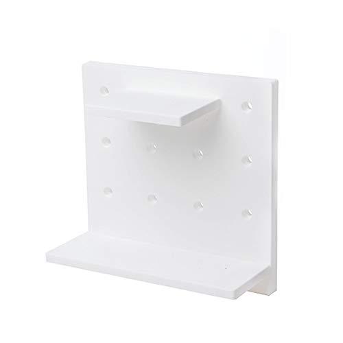 litty089 Home Support Holder Wandmontage, stilvoll, solide Farbe, starkes Kleberegal, platzsparend Organizer Board Regal weiß