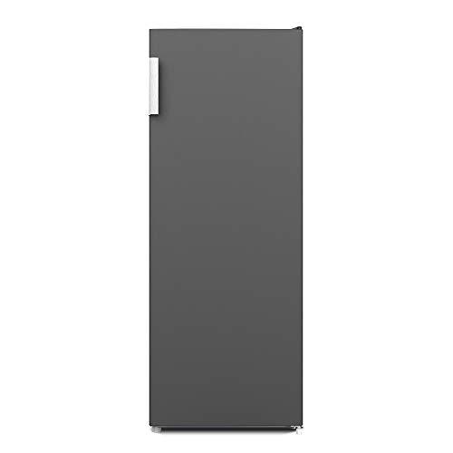 CHiQ FSD166NE4 Congelador vertical con refrigeración por aire 166L, NO FROST, Color Inox Oscuro, Puerta reversible, Silencioso 42 db, Altura 1.44m, Compresor 12 años garantia