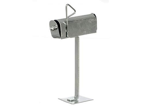 Melody Jane Puppenhaus Aluminium Briefkasten Box Miniatur 1:12 Gartenzubehör