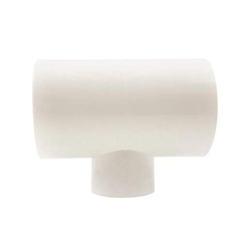 Ksowam 12 PVC Tee Fittings for Threaded Poultry Nipples Chicken Waterer, PVC Fittings for Automatic Watering System (White)