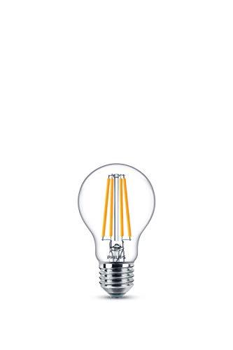 Philips LED Bombilla estándar de filamento, consumo de 10,5W equivalente a 100 W de una bombilla incandescente, casquillo gordo E27 luz blanca cálida