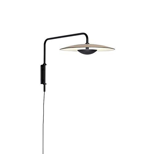 N \ A Iluminación de Pared Ajustable Retro Negra, lámpara de Pared Estilo Carpa de Hierro Forjado de Estilo Industrial