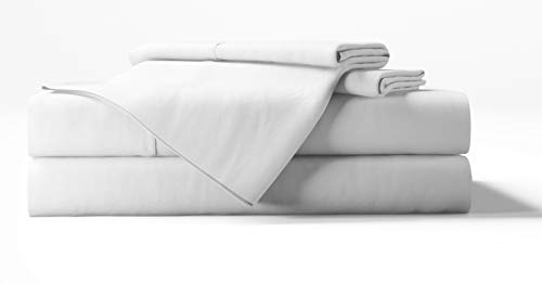 Bamboo Tranquility Bamboo Sheets Supreme Quality 4 Piece Bamboo Bed Sheets Set (Queen, White)