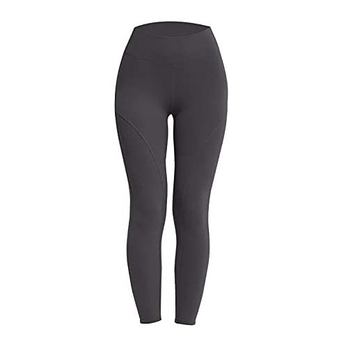 Pantalones de Yoga Damas de Cintura Alta Leggings de Gimnasio Pantalones de Control de Barriga Entrenamiento Correr Medias Deportivas E,XL