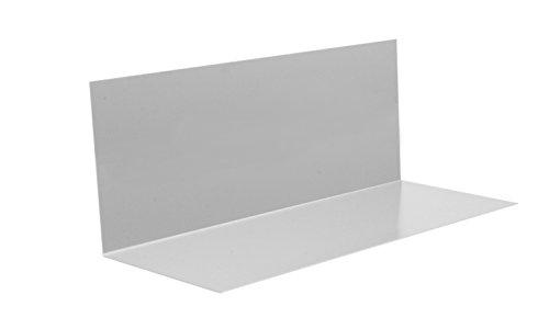 SAREI Haus- und Dachtechnik SHDT Alu - Winkelblech ohne Wasserfalz 1m, 5 Stück im SET