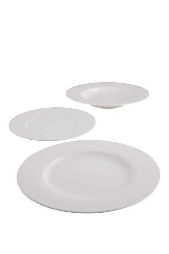 VILLEROY & BOCH Vivo White Basic set 12 pz. composto da 4 piatti cm 27, 4 piatti fondi cm 23,4 piatti frutta cm 21.