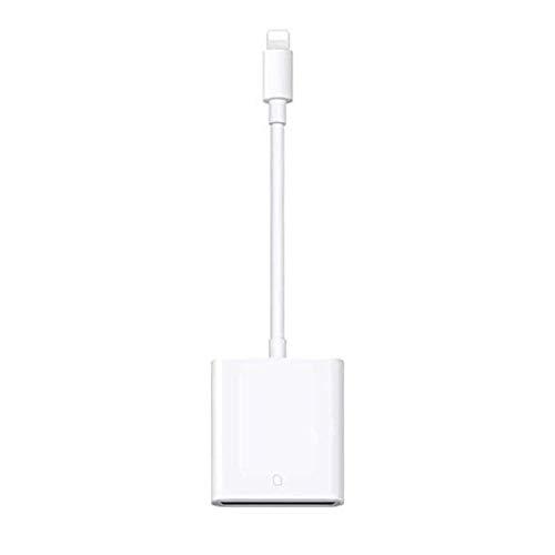GOLDFOX SD Kartenleser Kartenlesegerät Adapter Kamera Card Reader 14MB/s~16MB/s für alle iPhone Modelle(iPhone 5-iPhone 11,Pro,Pro Max), iPad Air,Air 2,Mini 1-4, iOS 13 kompatibel Weiß