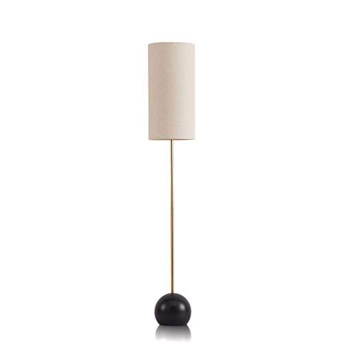 LEZDPP Hierro Forjado Simple LED lámpara de pie, Pantalla de la Tela Vertical Lámpara de Piso, Sala Dormitorio de Noche lámpara de Pared E27 Lámparas de pie