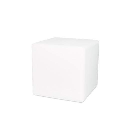 Paddia Lámpara LED Cube Light Furniture Bar Caja Cuadrada Silla Al aire libre Ocio Taburete Bar Fiesta Kindergarten Plástico Transparente Restaurante Lámpara de mesa Decoración de interiores Noche Bat
