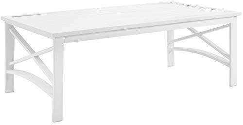 Crosley Furniture CO6207-WH Kaplan Outdoor Metal Coffee Table, White