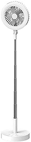 GIOAMH Floor Lamp with Fan, Mini Led Floor Light with Usb Charging Port and Timer, Height Adjustable, Touch Control, Lamp Shade Adjustabl, Foldable and Portable Standing Lamp for Bedroom