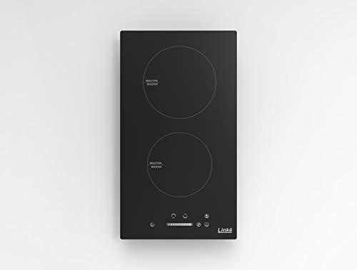 Linkë LKDIB – Domino kookplaat/kookplaat, 2 inductiekookplaten, bediening per toetsen, kleur zwart, 3500 W, om neer te zetten