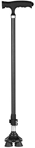 CANE Walking Stick/Crutches Lightweight Carbon Fiber Walking Canes With Adjustable LED Light Handle 10 Adjustable Height Levels For Elderly Men Or Women Disabled Cane With 4 Legs 2 Base Changeable Fir