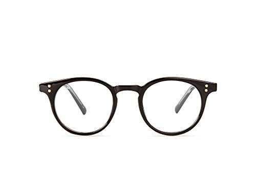 MÔDETT RONDA   Gafas redondas con Filtro de Luz Azul. Ligeras y Resistentes - Protección contra Pantallas y Monitores. [Negro]