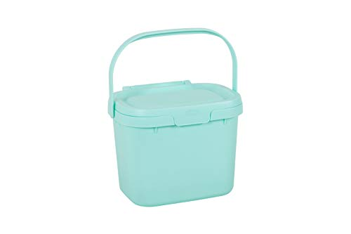 Best Prices! Addis 518418 Everyday Kitchen Food Waste Compost Caddy Bin, 4.5 Litre, Blue Haze