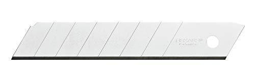 Fiskars Abbrechklingen, Für Fiskars Cuttermesser, 25mm, Rostfreier Stahl, 10er Pack, CarbonMax, 1048067