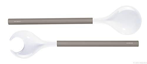 ASA Salatbesteck, Holz, grau/weiß, 31.5x10x1 cm